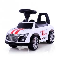 Jeździk, pchacz dziecięcy, pojazd RACER biały Milly Mally