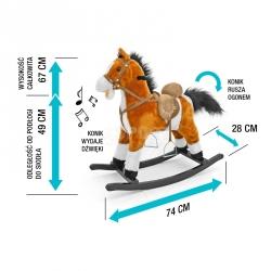 Koń na biegunach, bujany MUSTANG ciemnobrązowy Milly Mally