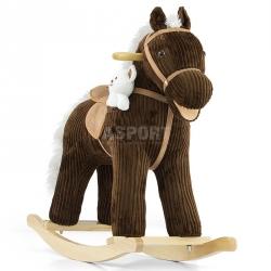 Koń na biegunach, bujany PONY BRUNO brązowy + miś Milly Mally