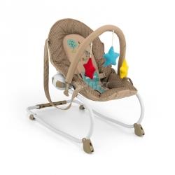 Leżaczek bujany dla niemowląt MILLY brązowo-beżowy Milly Mally