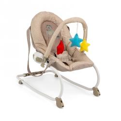 Leżaczek bujany dla niemowląt MILLY beżowo-brązowy Milly Mally