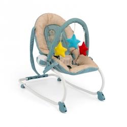 Leżaczek bujany dla niemowląt MILLY beżowo-niebieski Milly Mally