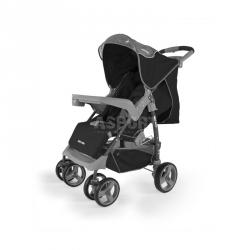 Wózek dziecięcy, spacerowy, od 6 miesięcy VIP BLACK-GRAY Milly Mally