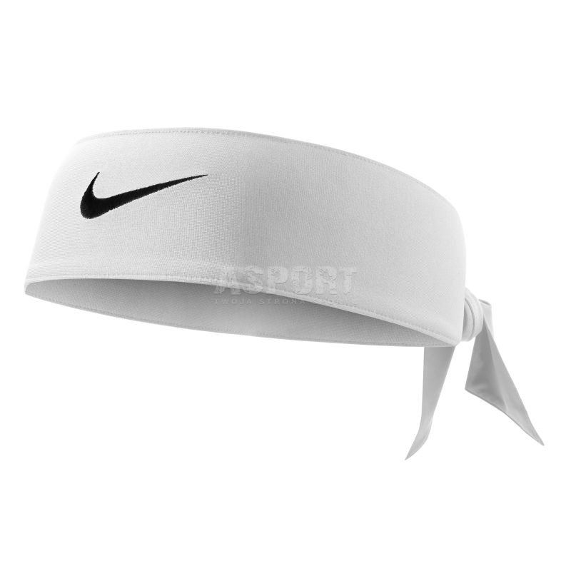 Opaska wiązana, na głowę DRI-FIT HEAD TIE 2.0 biała Nike