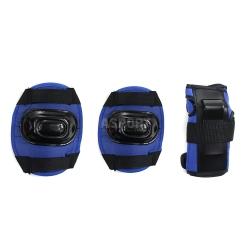 Ochraniacze dziecięce na nadgarstki, łokcie, kolana H108 DARK BLUE Nils