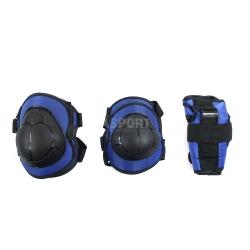 Ochraniacze dzieci�ce na nadgarstki, �okcie, kolana H110 DARK BLUE Nils