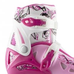 Rolki + łyżwy + wrotki 4w1, łyżworolki dziecięce regulowane NH0320A pink