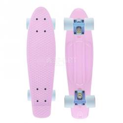 Deskorolka, pennyboard PASTEL różowa 56cm Nils Extreme