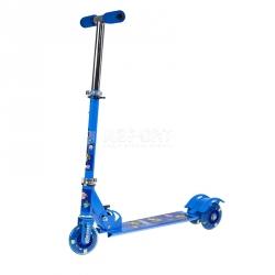 Hulajnoga 3-kołowa dziecięca, LED HL-100 niebieska Nils Extreme