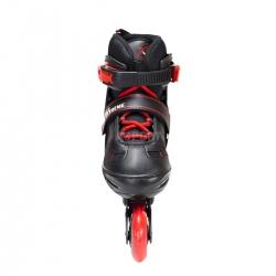 2w1: rolki + łyżwy dziecięce regulowane NH7103A czarno-czerwone Nils
