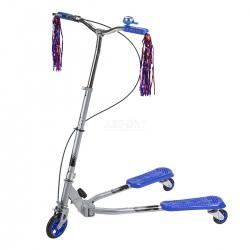 Fliker, hulajnoga 3-kołowa, dziecięca, młodzieżowa FL125 niebieska Nils