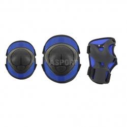 Ochraniacze dziecięce na nadgarstki, łokcie, kolana H110 DARK BLUE Nils
