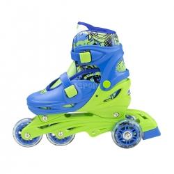 4w1: rolki, triskate, wrotki, łyżwy hokejowe, regulowane NH18330 niebieskie Nils
