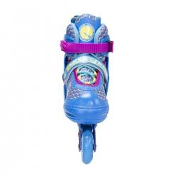 Rolki regulowane, rekreacyjne, dziecięce, młodzieżowe NJ4613 niebieskie Nils