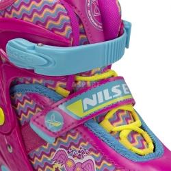 Rolki regulowane, rekreacyjne, dziecięce, młodzieżowe NJ4613 różowe Nils