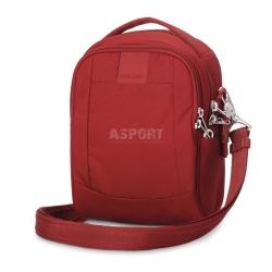 Bezpieczna torba miejska, antykradzieżowa, na ramię 3L LS100 czerwona Pacsafe