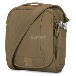 Bezpieczna torba miejska, antykradzieżowa, na ramię 7L LS200 beżowa Pacsafe