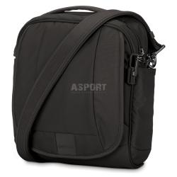 Bezpieczna torba miejska, antykradzieżowa, na ramię 7L LS200  czarna Pacsafe
