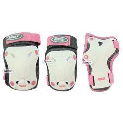 Ochraniacze dziecięce na nadgarstki, kolana, łokcie różowe Roces