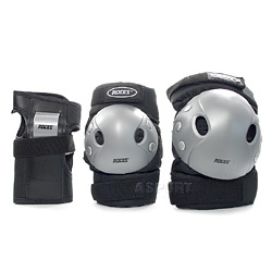 Ochraniacze dzieci�ce na nadgarstki, �okcie, kolana JUNIOR 3-PACK Roces