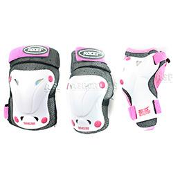 Ochraniacze dzieci�ce na nadgarstki, kolana, �okcie pink Roces