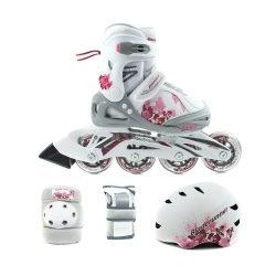 Rolki regulowane, dzieci�ce + ochraniacze + kask PHASER XR CUBE G Bladerunner