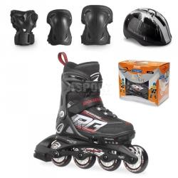 Rolki regulowane, dzieci�ce + ochraniacze + kask SPITFIRE CUBE Rollerblade