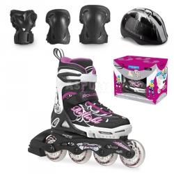 Rolki regulowane, dzieci�ce + ochraniacze + kask SPITFIRE CUBE G Rollerblade