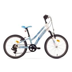 """Rower dzieci�cy, dziewcz�cy, rama 13"""" CINDY 20 niebieski Romet"""