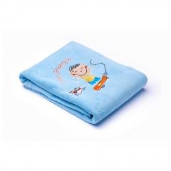 Kocyk dziecięcy do wózka, łóżeczka DZIECI niebieski Sensillo