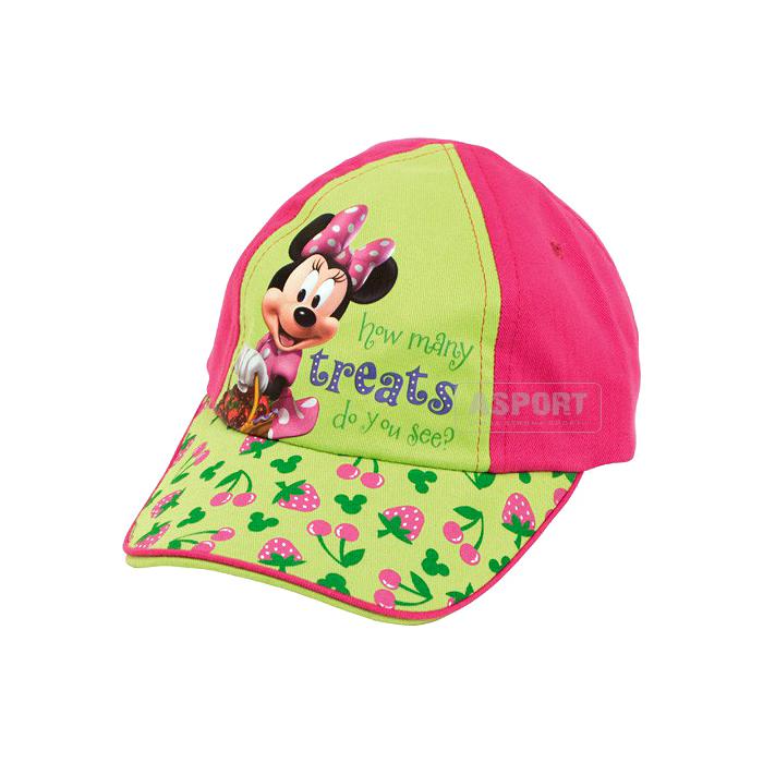 Czapka z daszkiem, dziecięca MYSZKA MINNIE 2kolory Mickey Mouse