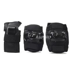 Ochraniacze dziecięce na nadgarstki, łokcie, kolana H108 BLACK Nils