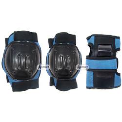 Ochraniacze dzieci�ce na nadgarstki, �okcie, kolana BESTSITE blue