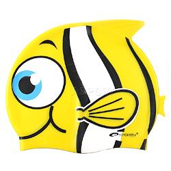 Czepek dziecięcy z silikonu RYBKA żółta Spokey
