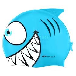 Czepek dziecięcy z silikonu rybka REKINEK niebieski Spokey