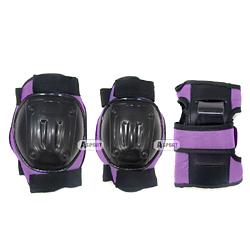 Ochraniacze dzieci�ce na nadgarstki, �okcie, kolana BESTSITE purple