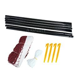 Zestaw do badmintona: siatka, słupki, śledzie, linki BADNET Spokey
