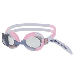 Okulary pływackie dziecięce JELLYFISH 82278 różowo-szare Spokey