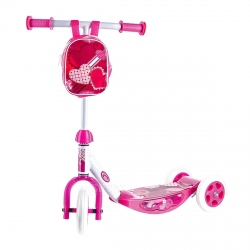 Hulajnoga 3-kołowa, dziecięca + torebka na kierownicę SWEETHEART Spokey