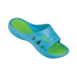 Klapki basenowe dziecięce FLIPI zielono-niebieskie Spokey