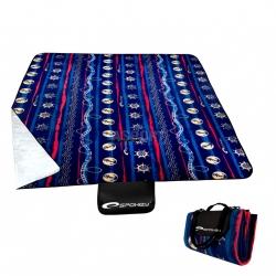 Koc piknikowy z polaru, wodoodporny PICNIC SAILING 180 x 150 cm Spokey