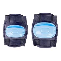 Ochraniacze dzieci�ce na �okcie, kolana BUMPER czarno-niebieskie Spokey