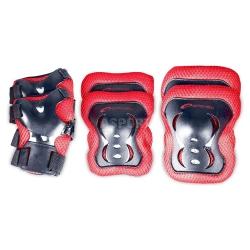 Ochraniacze na łokcie, kolana, nadgarstki SHIELD czerwone Spokey