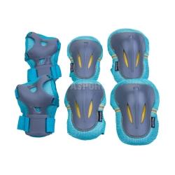 Ochraniacze dziecięce, zestaw: nadgarstki, kolana, łokcie PLATE Spokey