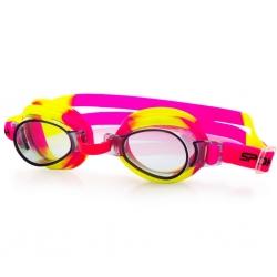 Okulary pływackie dziecięce JELLYFISH różowo-żółte Spokey