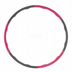 Hula-Hop, składany, masujące wypustki 100 cm szaro-różowe