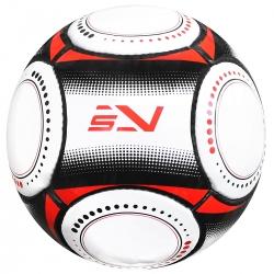 Piłka nożna na trawę rozmiar 5 biały/czerwony/czarny Sportvida