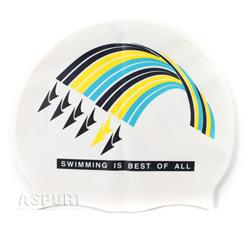 Czepek pływacki, silikonowy, uniwersalny 617 F212 WHITE Spurt