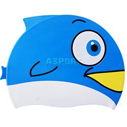 Czepek dziecięcy, silikonowy FISH BLUE Spurt