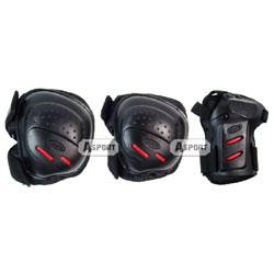 Ochraniacze na nadgarstki, �okcie, kolana COOLMAX czarno-czerwone Tempish